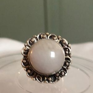 White Coral Ring Size 7.5